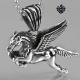 Silver fleur-de-lis swarovski crystal pendant stainless steel necklace