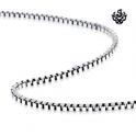 Silver necklace solid stainless steel box Chain