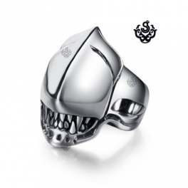 Silver Alien solid ring stainless steel band