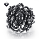 Silver Medusa ring snake solid stainless steel band soft gothic