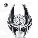 Silver stud clear swarovski crystal earring SINGLE soft gothic 0.25ct