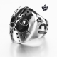 Silver Friday the 13th mask ring replica stainless steel band