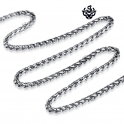 Silver necklace solid stainless steel twisted Chain